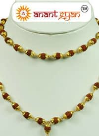 Gold Plated Rudraksha Mala