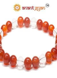 Red Agate With Tulsi Bracelet
