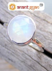 Moon Stone Stone Ring