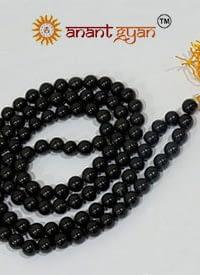 Black agate Mala