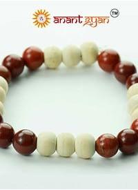 Red Jasper Stone With Tulsi Bracelet